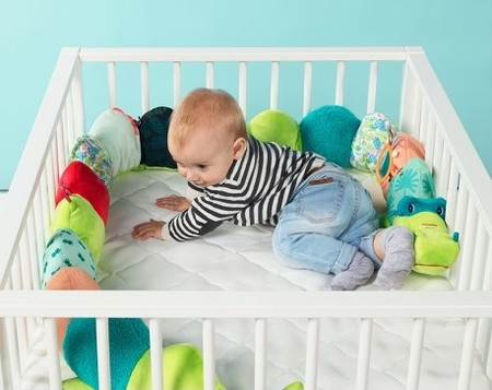 Barrera de peluche para bebés