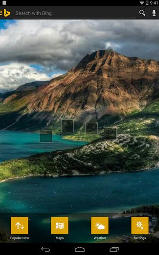 Bing para Android se rediseña, el wallpaper diario ahora como fondo de escritorio