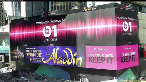 Imagen de la semana: Times Square da la bienvenida a Apple Music y Beats 1
