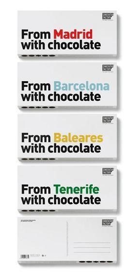 Postales de chocolate