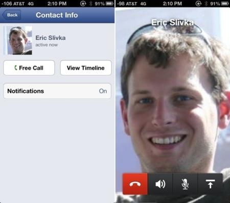 Facebook añade soporte VoIP en Estados Unidos y Canadá a su aplicación de mensajes para iOS
