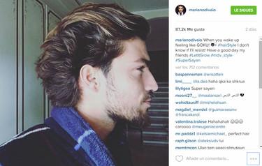 Mariano di Vaio se convierte en Goku con su nuevo peinado