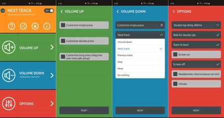 Next Track App Opciones Configuracion