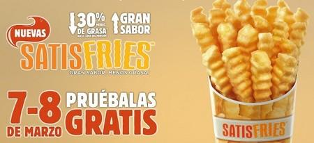 7 y 8 de marzo: prueba gratis las nuevas patatas Satisfries de Burger King