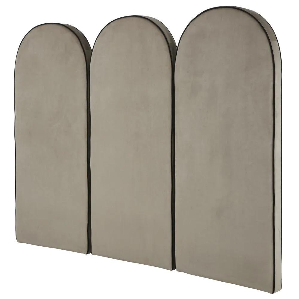 HACKNEY BUSINESS.- Cabecero modular profesional de terciopelo gris 60x140,5