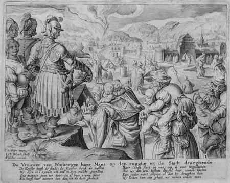 ilustración de las mujeres cargando a sus maridos