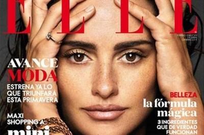 Penélope Cruz luce natural para la revista ELLE ¡Qué pecosilla!