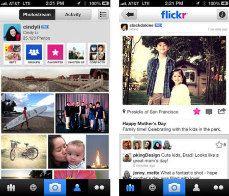 Flickr actualiza su aplicación para iOS con soporte para hashtags