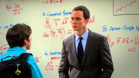 Sheldon ejerciendo de profesor