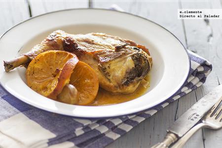 Pollo asado con naranja y azafrán: receta sencilla para comer de lujo