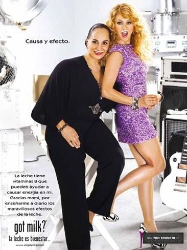 Paulina Rubio, ponme un vasito de leche