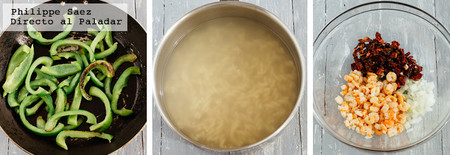 Ensalada Pasta Langostinos Pimiento Receta