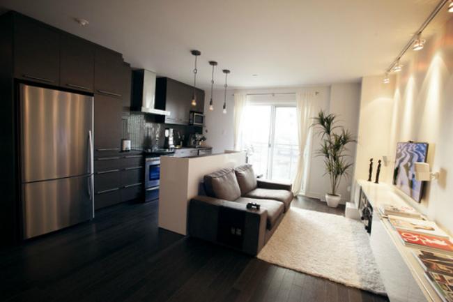 Puertas abiertas un apartamento de 56 metros cuadrados for Decoracion piso oscuro