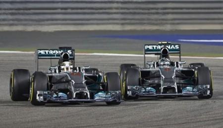 Lucha Hamilton Vs Rosberg Bahrein 2014