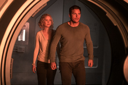 Passengers Jennifer Lawrence Chris Pratt Escena