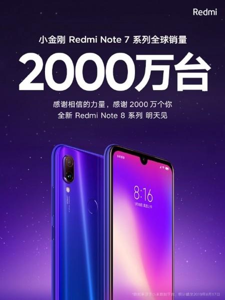 Xiaomi Redmi Note 7 20 Millones Unidades Vendidas Mundo