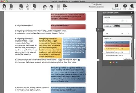 Interfaz de Textflow
