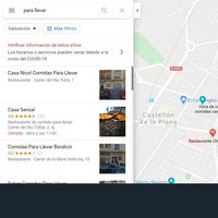 Cómo buscar restaurantes que envían comida a domicilio en Google Maps