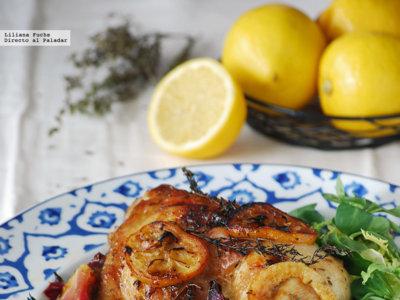 Pollo al horno con limón