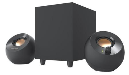 Creative presenta los altavoces de escritorio Pebble Plus, una evolución de los Pebble que mejoran en bajas frecuencias