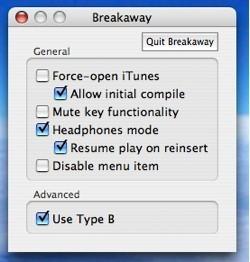 Breakaway: Pausa iTunes cuando quites los auriculares de tu Mac