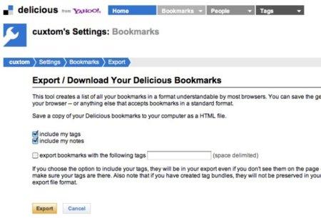 Cómo guardar los enlaces de Delicious en vuestro navegador, por lo que pueda pasar