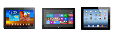 La pantalla de Surface RT sale muy bien parada frente a la competencia