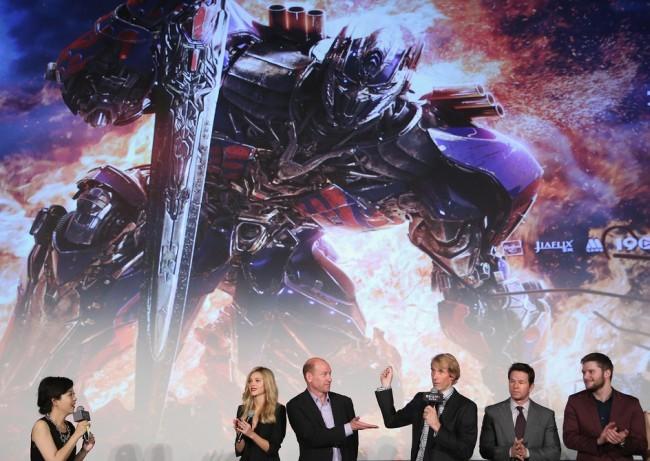 Una fotografía de la premiere de Transformers 4