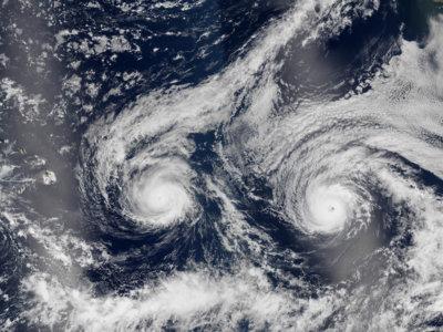Así de imponentes lucen los huracanes cuando se ven desde el espacio