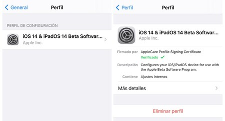 Perfil Beta Ios