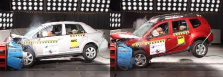 Nissan Tiida gana estrellas y Renault Duster pasa de panzazo en las pruebas de Latin NCAP