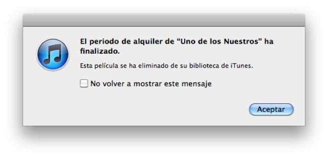 iTunes Alquiler