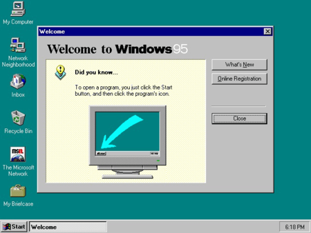 Windows 95 cumple 20 años. La imagen de la semana