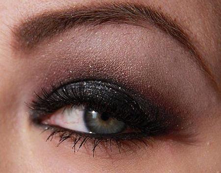 Ojos ahumados en negro, ¿para el día o la noche?