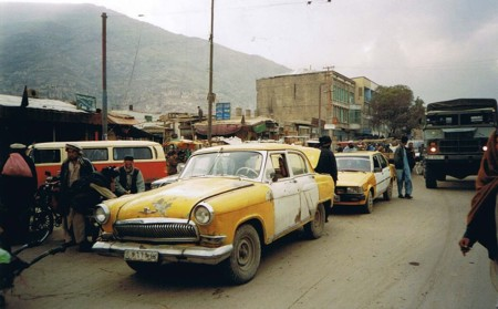 Gaz 21 Volga Used As A Taxi On The Kabul Streets