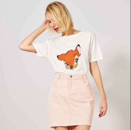 Kiabi Camiseta Bambi Blanco Mujer Pvp 9eur