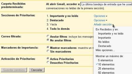 Personaliza tu Priority Inbox
