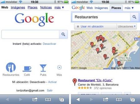 Google presenta nuevas prestaciones para su interfaz móvil de búsquedas