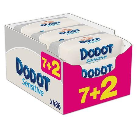 El pack de 9 paquetes de 54 unidades de toallitas Dodot Sensitive está por sólo 12,69 euros en Amazon