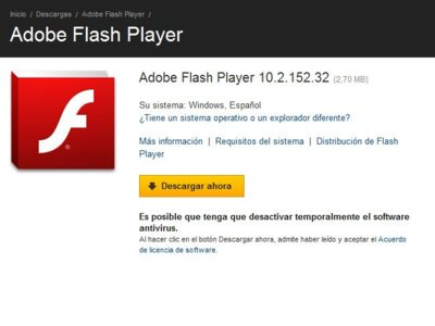 Problema crítico de seguridad en Flash Player