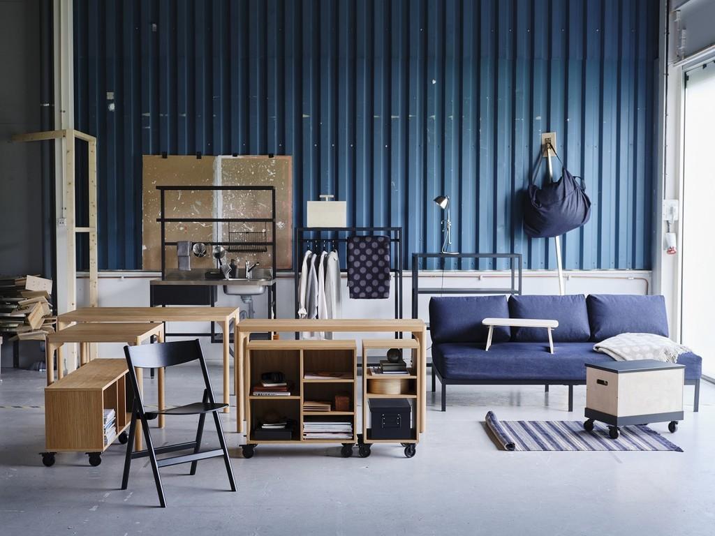 Alerta, novedad: RÅVAROR, una colección de Ikea diseñada para casas multifuncionales o para moverse contigo en tus mundanzas