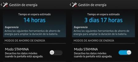 Modo Stamina en Sony Xperia