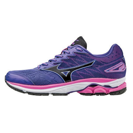 Mizuno Women S Wave Rider 20 Shoes Ss17 Cushion Running Shoes Purple Black Aw17 J1gd170309 4