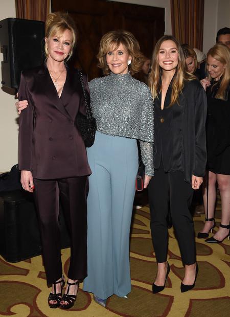 Jane Fonda Melanie Griffith Y Elizabeth Olsen Juntas