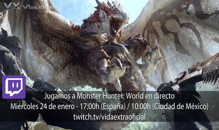 Streaming de las primeras horas de Monster Hunter: World a las 17:00h (las 10:00h en Ciudad de México) [Finalizado]
