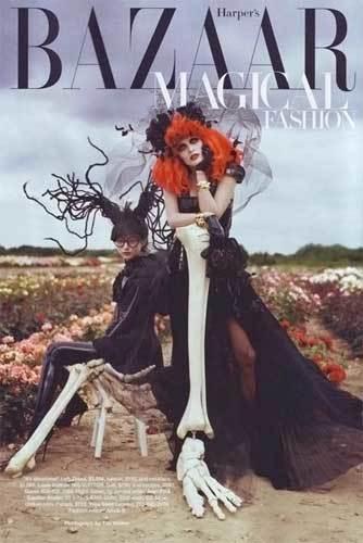 La fantasía de Tim Burton en Harper's Bazaar