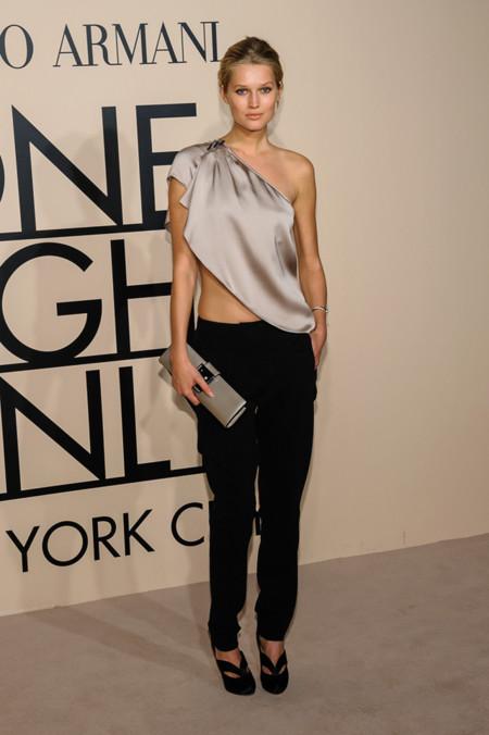 Toni Garrn en la fiesta One Night Only de Giorgio Armani en Nueva York, Octubre 2013