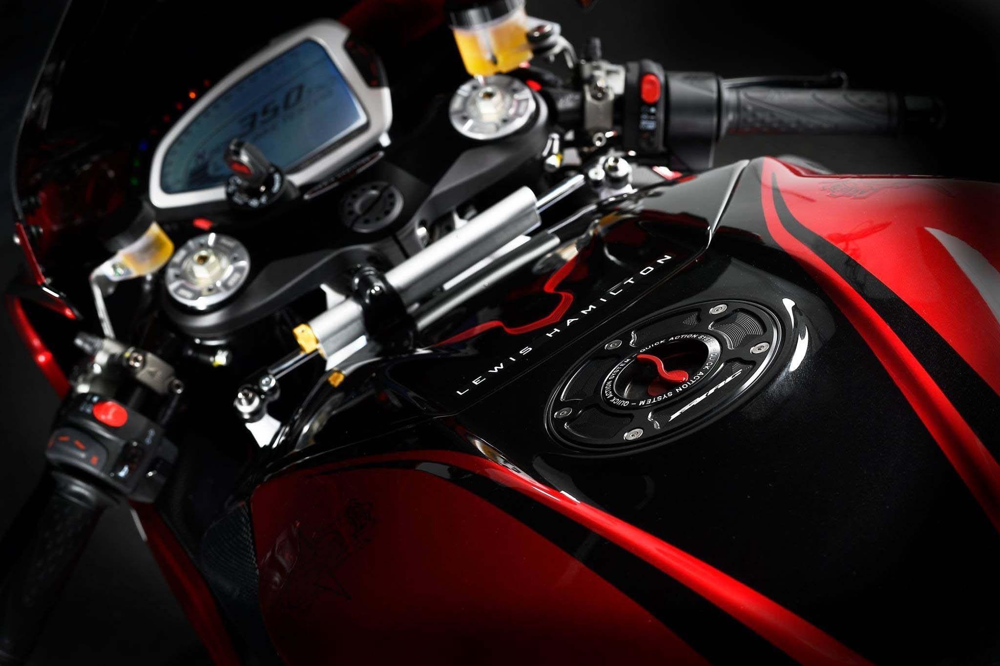 Lewis Hamilton MV Agusta F4 LH44