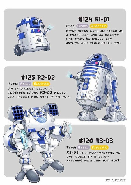 Pokemon Star Wars R2d2