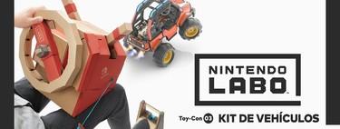 Análisis de Nintendo Labo: Toy-Con Kit de vehículos. Espíritu de juguete, pero un poco más videojuego